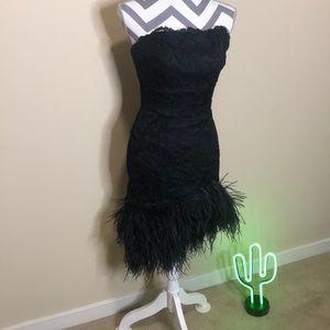 Vintage Ostrich Cocktail Dress